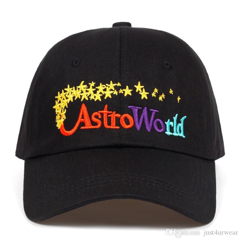 Мужского Travis Скоттс AstroWorld Письмо печать Caps Женщина Hip Hop весна осень моды шляпа Lovers Street Caps Мужской одежда женщины Аксессуары