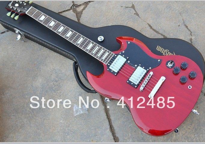 envío gratis de alta calidad 6 cuerdas Custom Shop 2014 nueva STANDARD SG red Electric guitar!