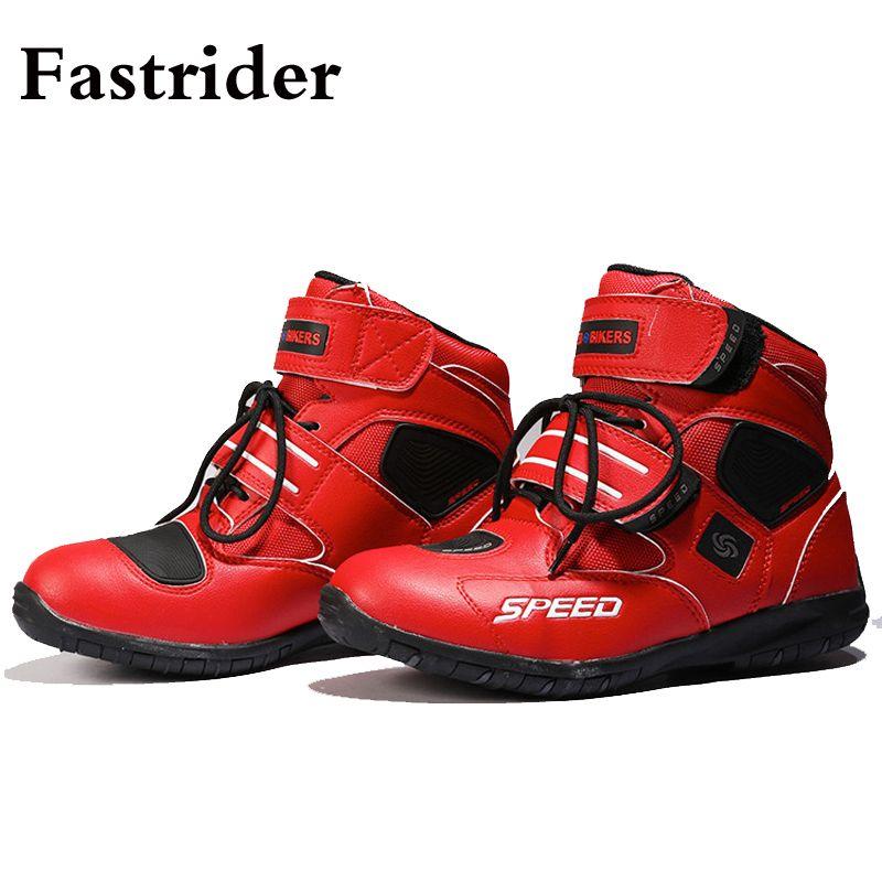 Fastrider Yeni HIZ BIKERS Profesyonel motosiklet botları BOTAŞ'ın unisex kaymaz ayakkabılar yarış Motokros BOOT A005 bisikletçinin