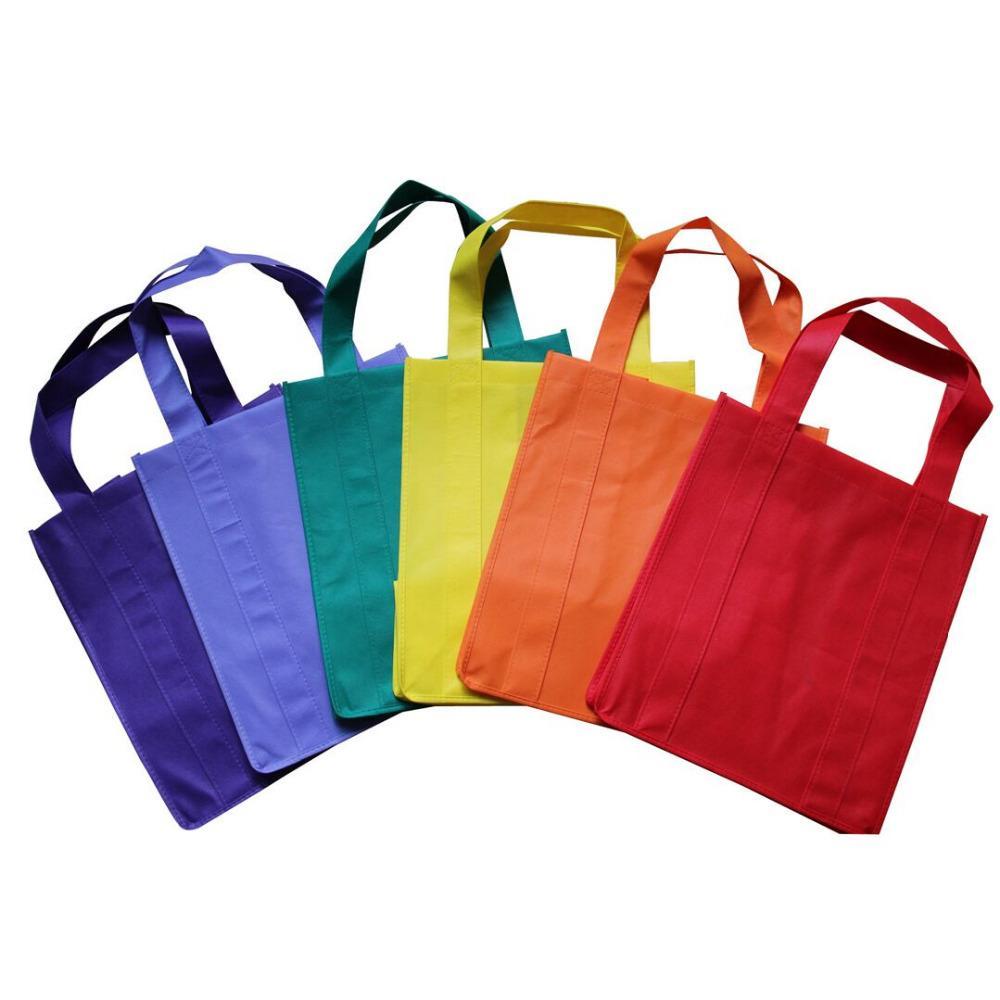 1000pcs / lot Personnalisé Sac Eco Sac en tissu pliable personnalisé Webshop non tissé se pliant sacs à provisions réutilisables pour le supermarché