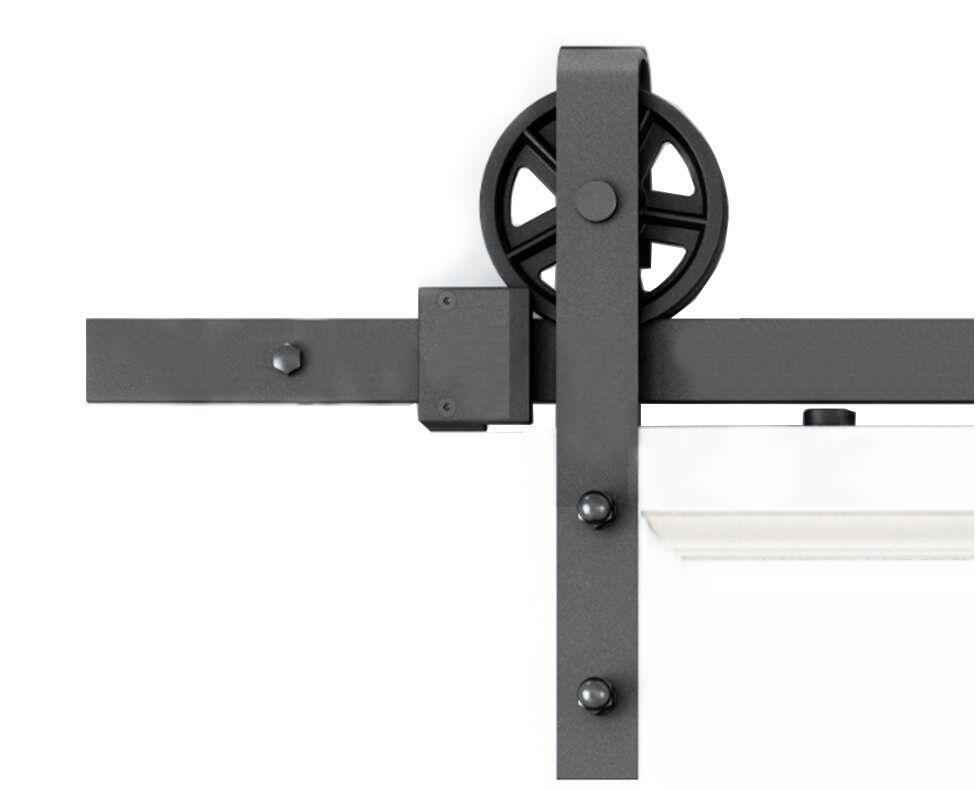 5FT / و 6ft / 8FT / 10FT نمط خمر حزام عجلة تكلم الصناعي انزلاق الخشب الحظيرة عدة أجهزة باب المسار