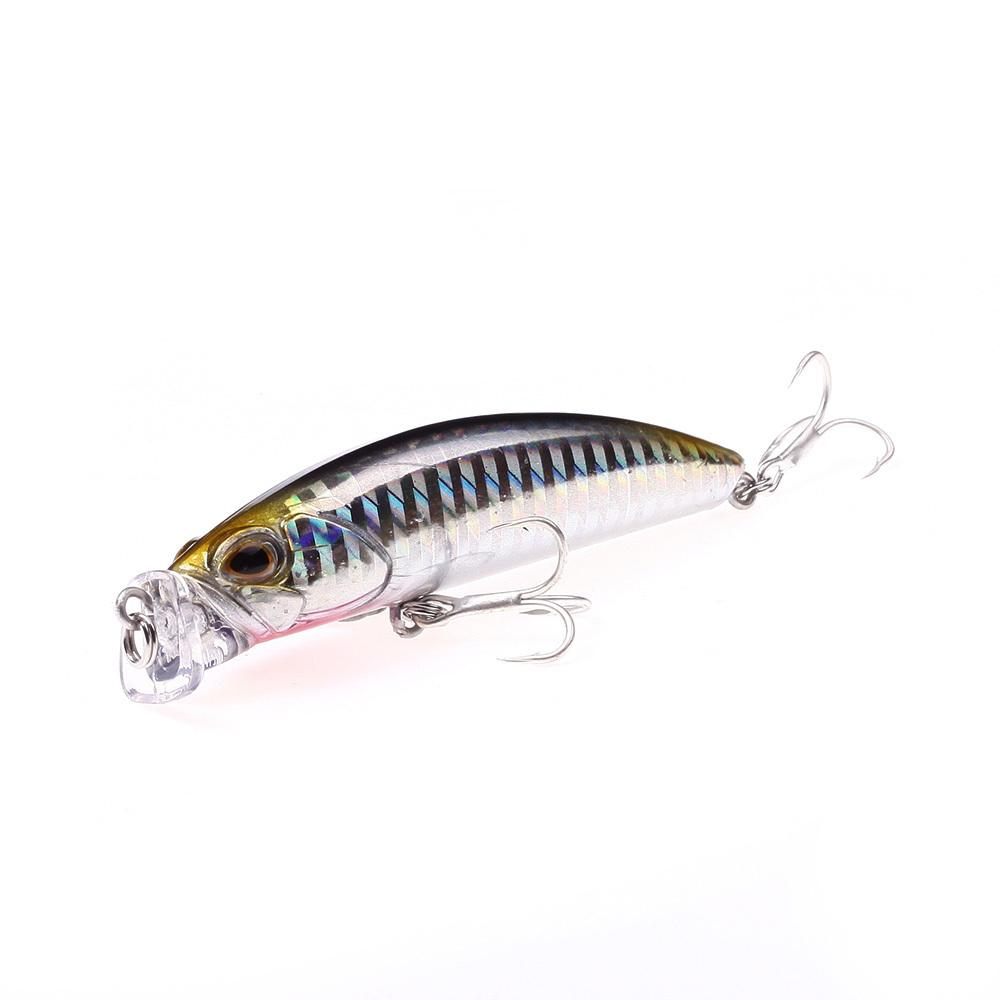Deep Diving Fishing Lures 10g / 80mm Lifelike Wobblers Crankbait with 8# Hooks Popper Y18100906