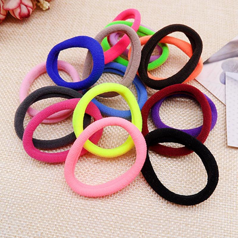 50 teile / los elastische haarbänder stirnband halter haar gummiband zubehör ring seil headwear für gilrs kinder damen
