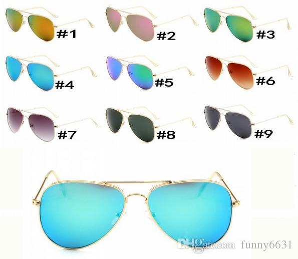 summer women FASHION metal Dazzle colour Sunglasses Driving glass cycling glasses men Bicycle Glass driving Sun glasses 9COLORS hot sale
