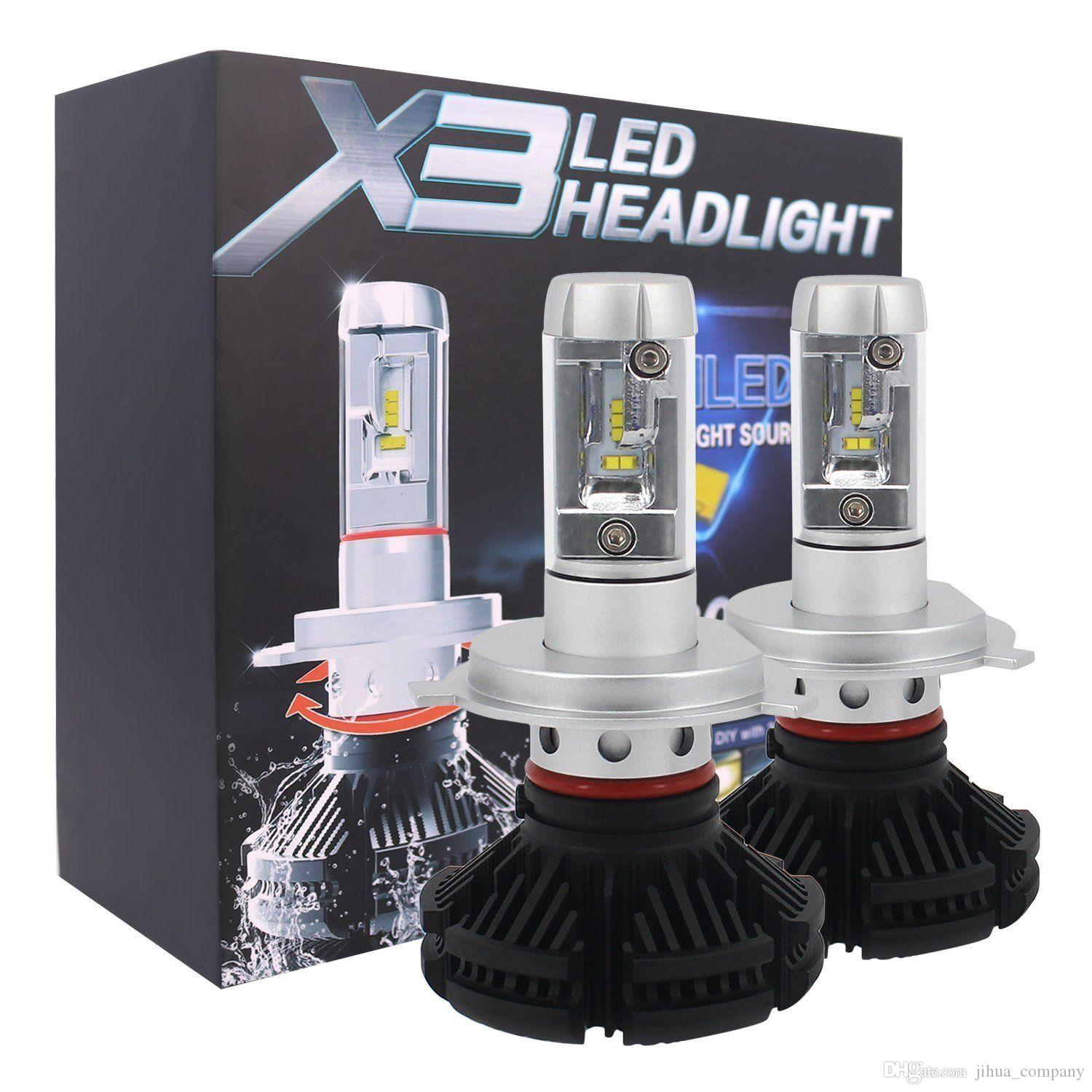 2018 New COB LED Headlights 100W Bulbs White 6000k For H4 H7 H1 H8//H9//H11 9006
