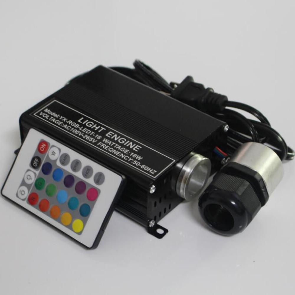 16W RGB LED Fiber Optic star Ceiling Lights Engine Driver +24Key IR Remote