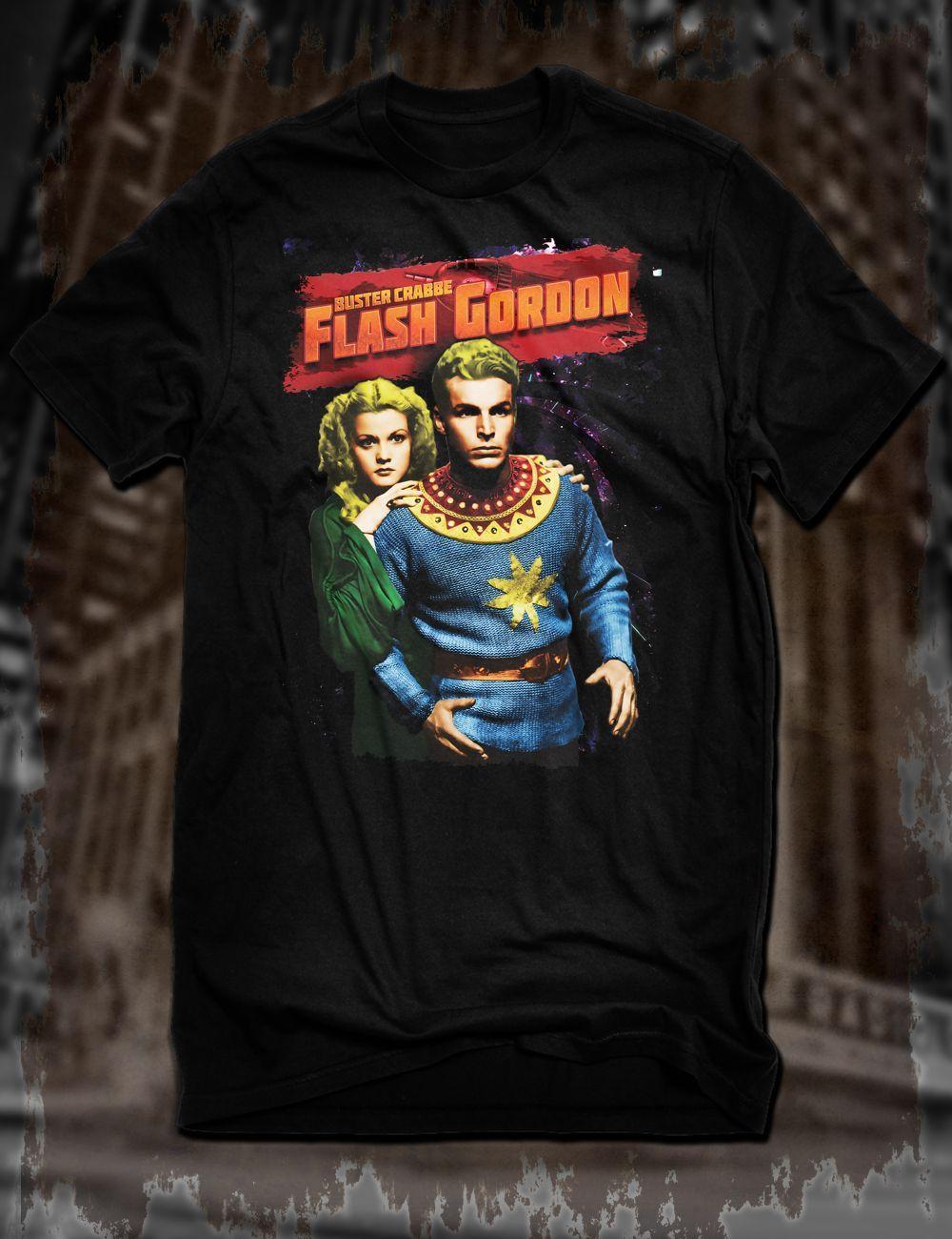 Compre New Black Buster Crabbe Flash Gordon Camiseta Sci Fi Tv Serial Ming Espaco Homens T Shirt Menor Preco 100 Algodao Jogo Camisa De Wattystore 133 63 Pt Dhgate Com