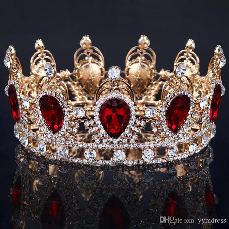 Couronnes De Mariée Strass Cristaux De Mariage Chic Couronnes Princesse Cristal Accessoires De Cheveux Anniversaire De Fête Anniversaire Diadèmes Quinceaner Doux