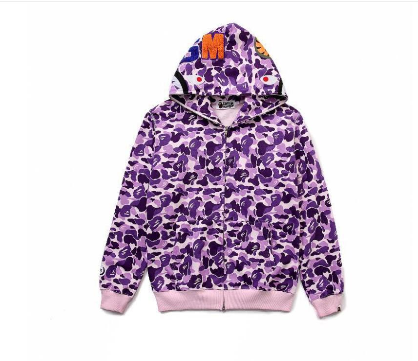 Manufacturers 2018 Trade Mens Tide Brand Hoody Mens Cashmere Zipper Sweater with Shark Men and Women Couples Hooded Jacket