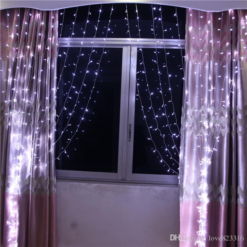Toptan 6 M * 3 M 600LED Pencere Perde Dize Peri Işıklar Noel Noel Düğün Bahçe Partisi Garland Ev dekor 10 adet / grup