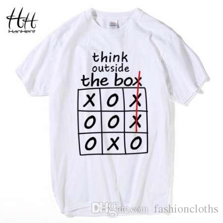 HanHent думать вне коробки футболки творческий хлопок летние мужские футболки Бодибилдинг 2018 уличная забавные футболки мальчиков