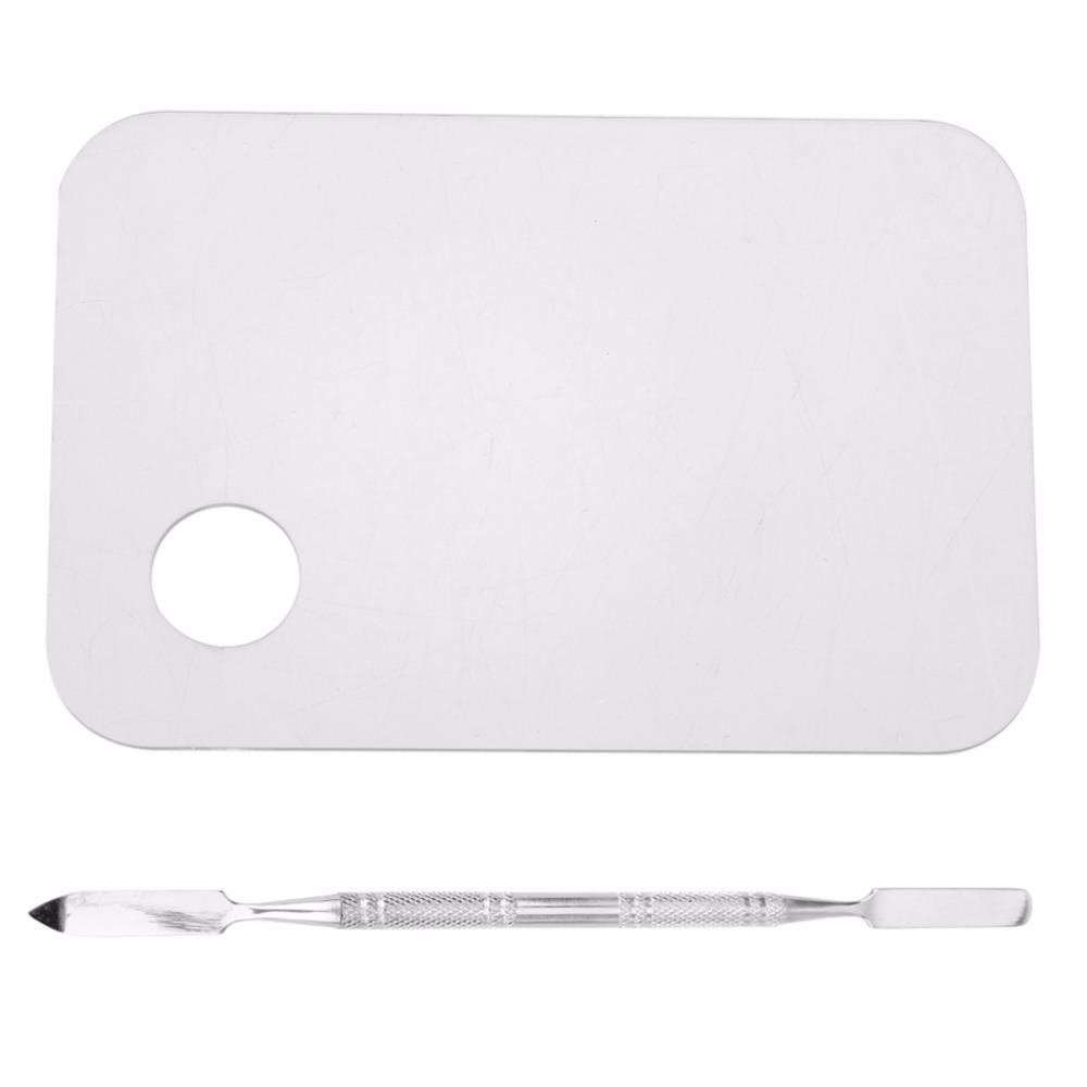 Acrylic  Mixing Palette Nail Art Gel Palette Plate Knife with Spatula  Foundation Color Blending Tool