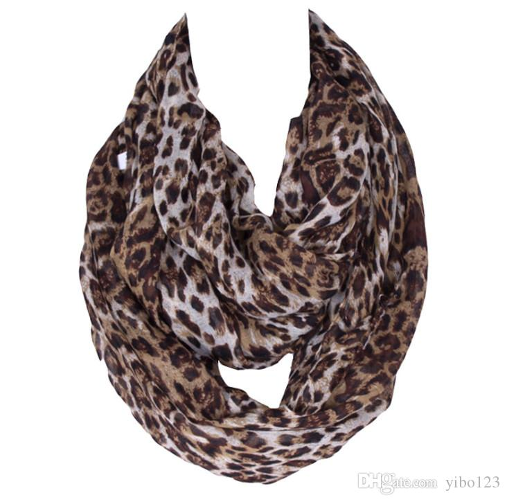 New hot sale Sexy Fashion Leopard Print Chiffon Shawl Scarf for Women and Girls Hot Item High Quality