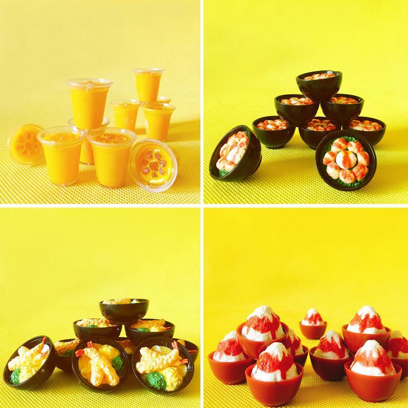 10 Mug Christmas Dollhouse Miniatures Ceramic Kitchenware Food Supply Deco