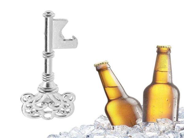 Schlüsselform Bier Flaschenöffner Vintage Retro Keychain Opener Schlüsselanhänger Metall Silber Tragbare Geschenke Bier Flaschenöffner