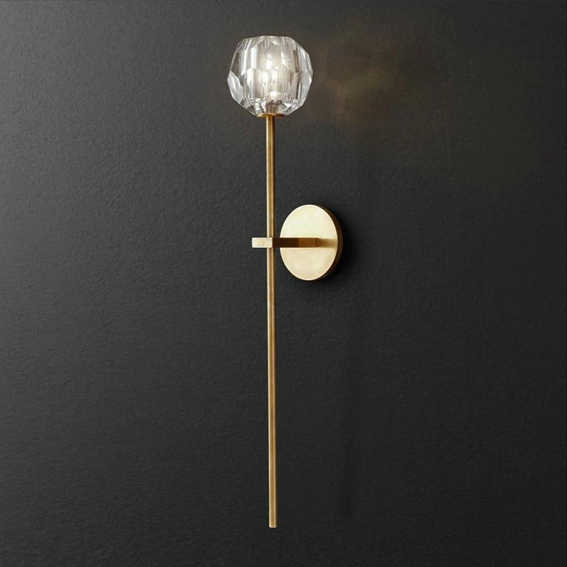 Vintage Wandleuchte Eisen Kristall Wandleuchte LED Leuchte Für Schlafzimmer Wohnzimmer wandlampe Eisen Applique Lampe Leuchte