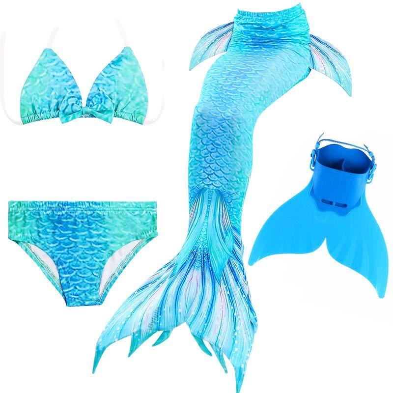 22 Colors 2018 New Ariel Children Swimming Mermaid Tail With  Flipper Girls Kids Swimsuit Swimmable Mermaid Tails Costume
