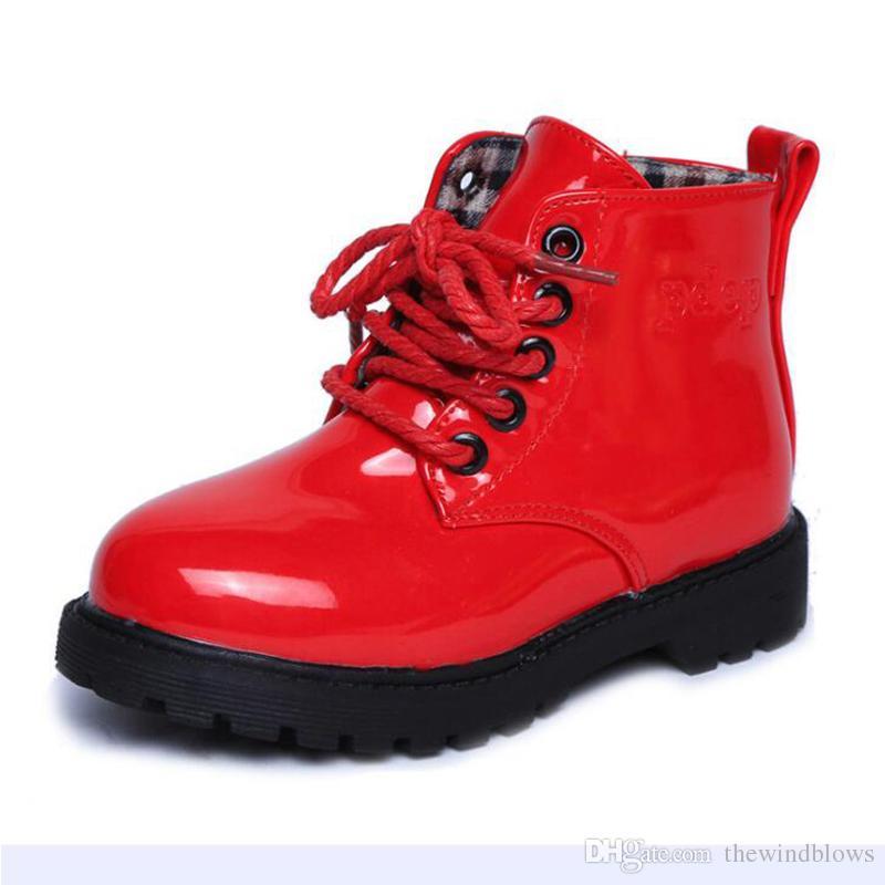 stivali di pelle per bambini ragazze stivali di martin scarpe per bambini singoli stivali da bambina principessa taglia 23 a misura
