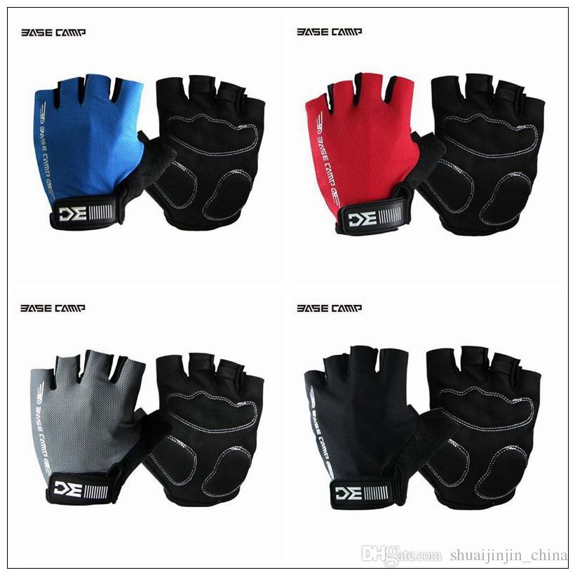 4 цвета BaseCamp открытый велосипед перчатки дышащий спорт велоспорт половина палец перчатки пять пальцев перчатки 2 шт./пара CCA9219 700pairs