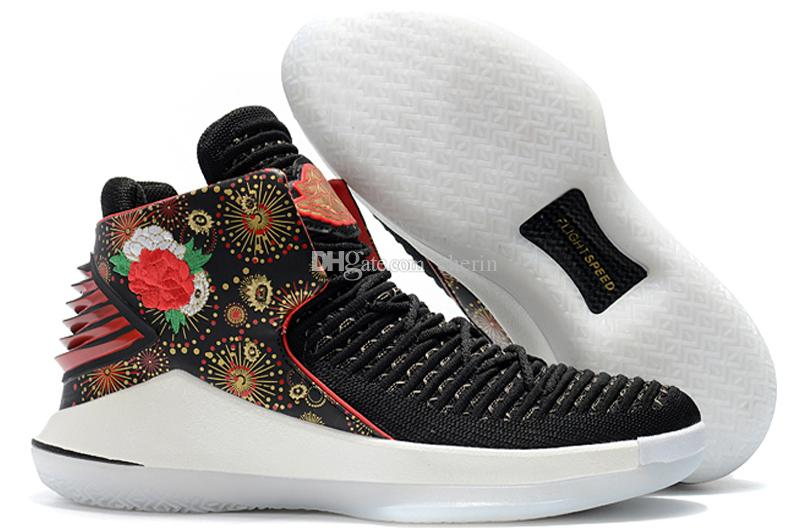 32 XXXII CNY Chinese New Year Men Basketball Shoes J32 PF MVP Black Cement Red Russ Russell Westbrook Gold Mens Sneakers