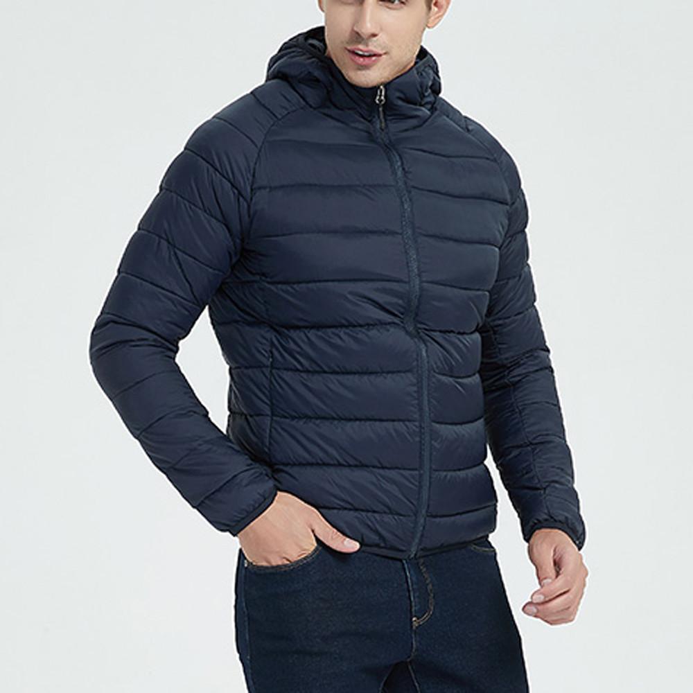 Легкий вес мужчины зима Homme Doudoune мотоцикл Parka de доверное стиль шандовые куртки перо утка вниз хлопок пальто с капюшоном # 4o18 xgjwe