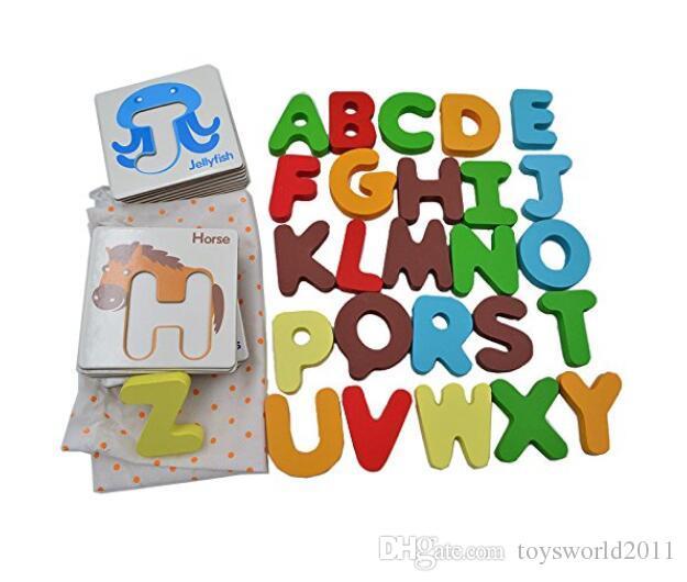 Ni/ños Educativos Rompecabezas Juguete Beb/é Preescolar ABC Alfabeto Tarjetas Juguetes cognitivos Animal Juguetes