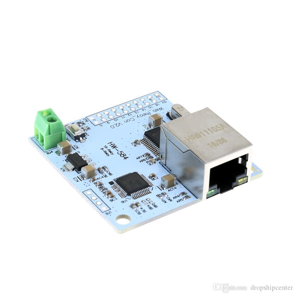 5 V DC 2A 8 Canal 28J60 W5100 RJ45 Interruptor de Controle de Rede Módulo de Relé de Internet Módulo de Relé de Aquecimento de Rede Painel de Controle