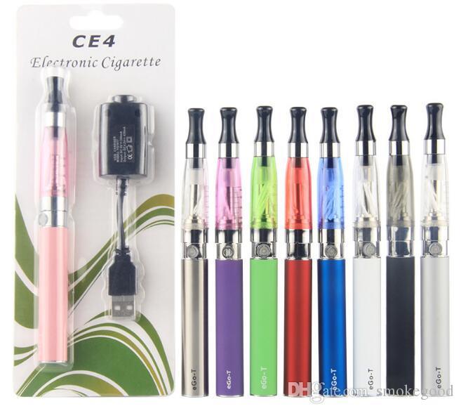 CE4 자아 스타터 키트 전자 담배 블리스 터 팩 1.6ml CE4 분무기 650mah 900mah 1100mah 무료 배송