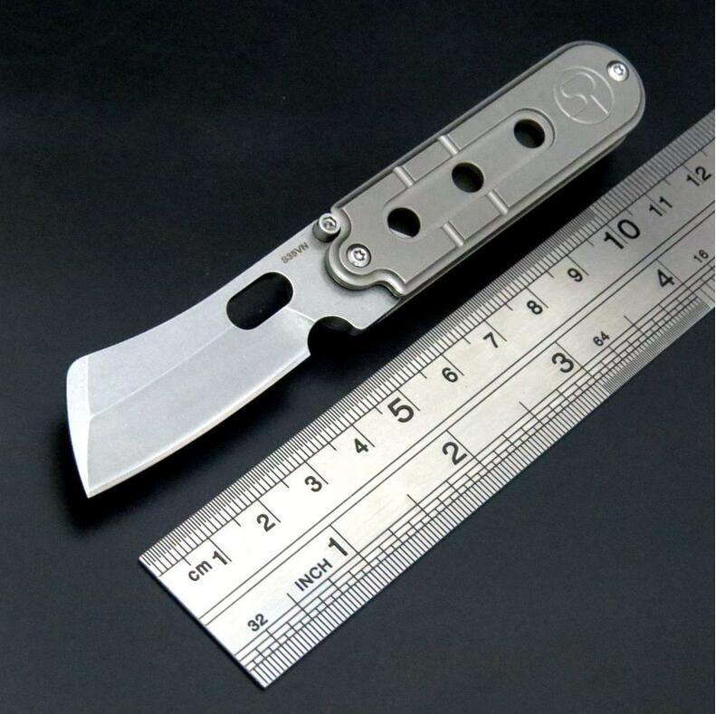 Serge Pea S35VN Титановый сплав Тактический складной Флиппер Нож Кемпинг Выживание Складной Нож Подарок Нож Открытый Инструменты Xmas Подарок