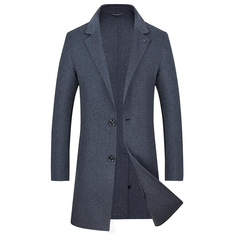 plus size 5XL 4XL high quality Jackets & Coats Single Breasted Casual Mens Wool Jackets Full Winter For Male Wool Overcoat