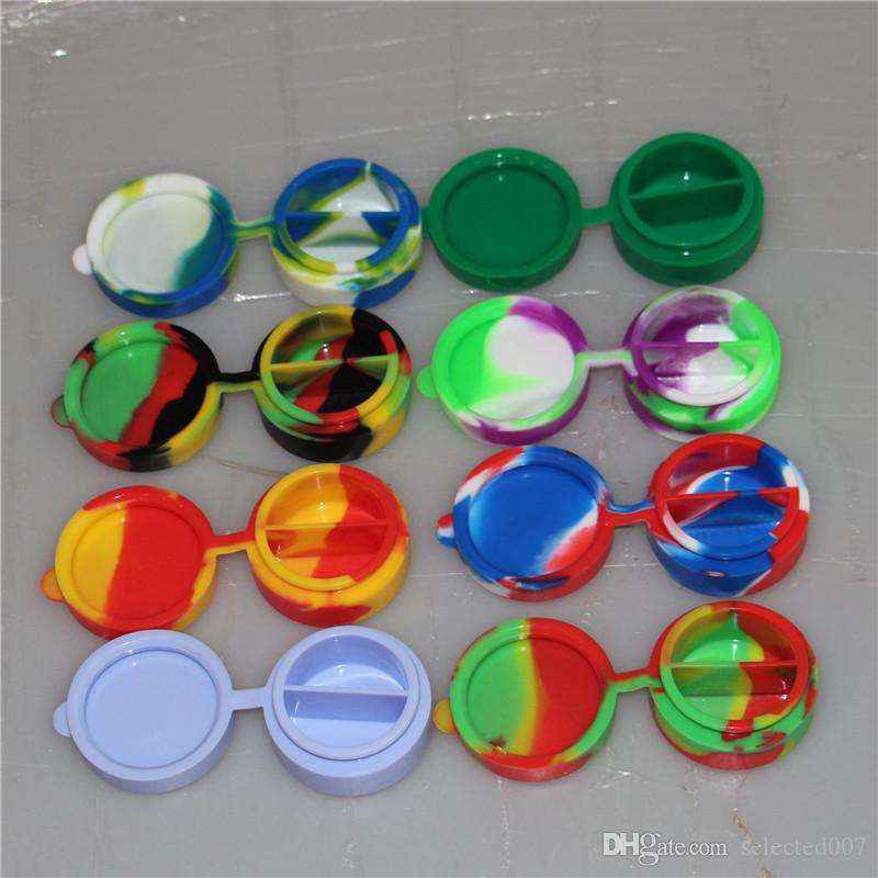 Nonstick 10ML Circular Wax Containers Silicone Box Silicon Container Food Grade Jars Tool Storage Jar Oil Holder For Vaporizer Vape Hot Sale