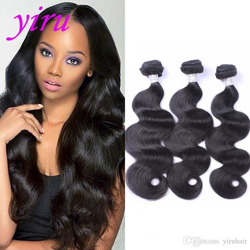 البرازيلي بالجملة اللون الطبيعي الشعر البشري 8-30 بوصة الجسم موجة الشعر الملحقات ينسج الجسم موجة 3 حزم منتجات الشعر