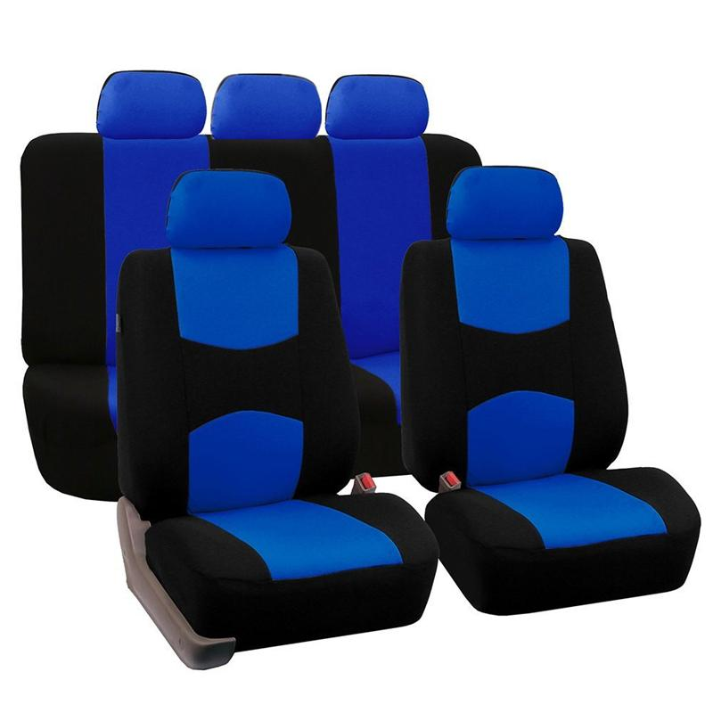 Auto2011 Seat Covers Full Car Seat Cover Universal Fit Interior Accessories Protector Color Gray Car-Styling