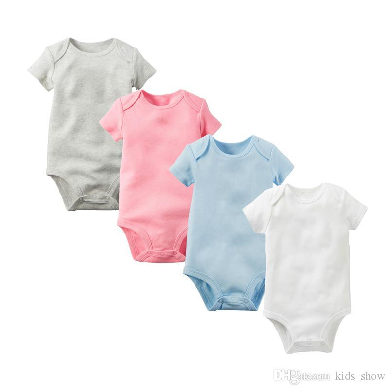 Baby triangle Romper summer pure cotton Jumpsuit casual infants short sleeve Rompers thin climbing suit covered hip clothing