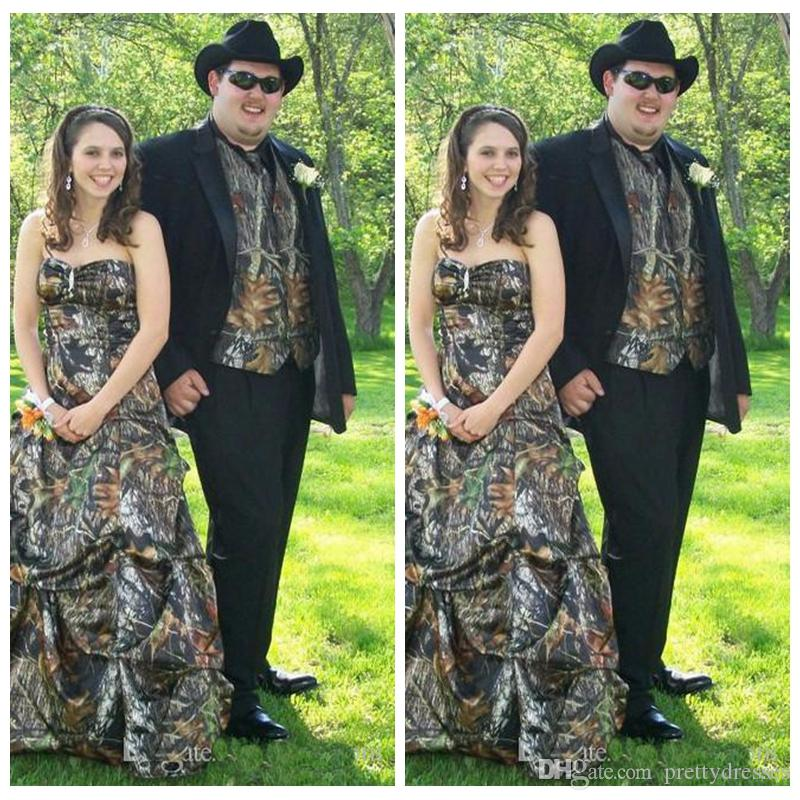 2019 Vintage Camo Vest Men Wedding Tuxedos Custom Formal Groom Wear Camouflage Groomsman Suit Best Fitted Custom (Jacket+Vest+Pant+Tie)