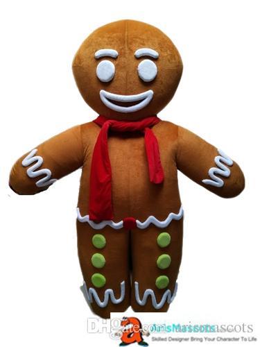 Adult Size Funny Cartoon Character Gingerbread Boy mascot costume funny mascot costumes for party custom mascots at arismascots
