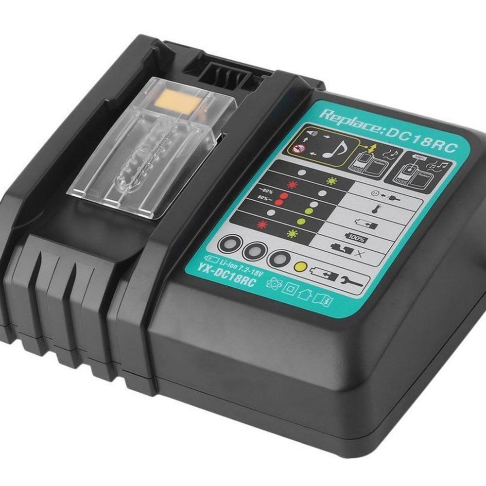 DOSCTT DC18RC 7A Cargador r/ápido Reemplazo para Makita Bater/ía de 14.4V-18V BL1850B BL1830 BL1840 BL1850 BL1860 BL1430 BL1440 BL1450 Bater/ías