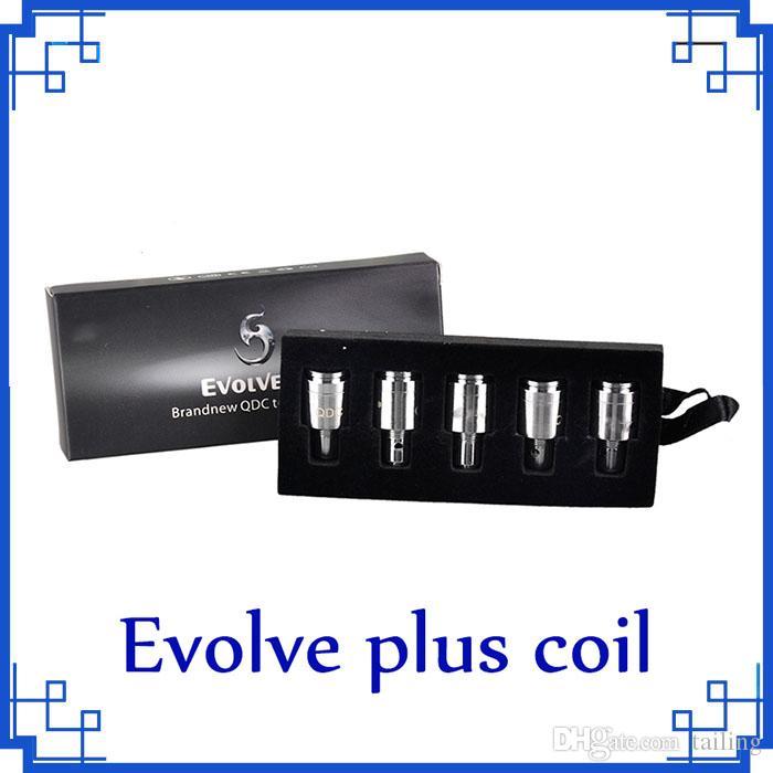 Bobinas Evolve Plus 2019 para el kit Evolve Plus QDC Quartz Dual Coils 5pcs / pack vs law pre-heat battery 0266126