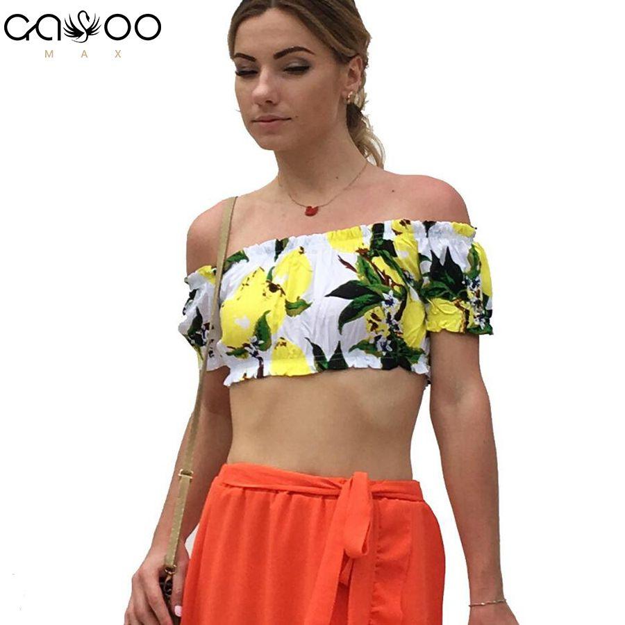 Mujeres sin tirantes elásticos Boob Bandeau Tube Crop Tops sujetador de la ropa interior del abrigo del pecho Top bandeau verano mujeres Print Flower Bikini Top