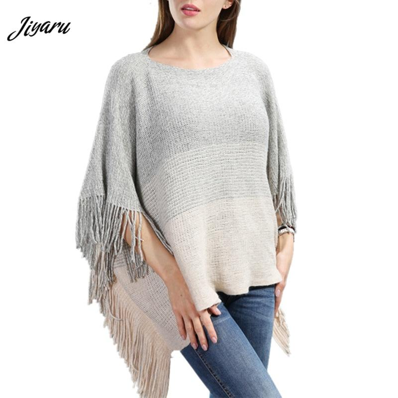 Ladies Shirts Tassel Decor Women Poncho Autumn Spring Female Shawl Women Fashion Shawl Loose Ladies Casual Poncho Clothing