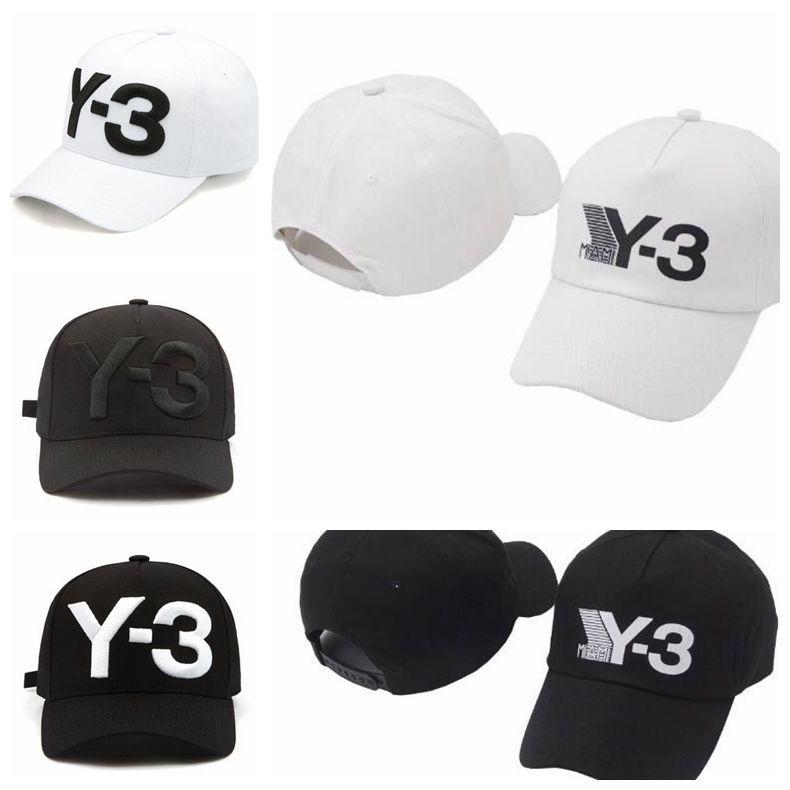 4 Farben New Y-3 Dad Hat Big Bold Gestickte Logo Baseball Cap Einstellbare Strapback Hüte Y3 Ball Caps CCA9221 5 stücke