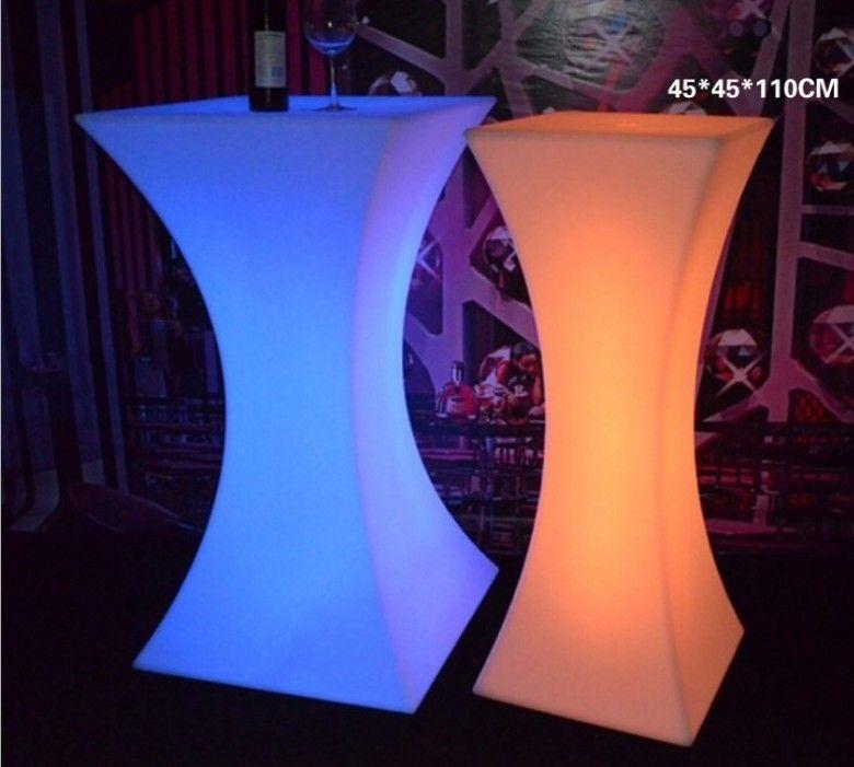 Tavoli Luminosi Da Esterno.Acquista Nuovo Tavolo Da Cocktail Luminoso Led Ricaricabile