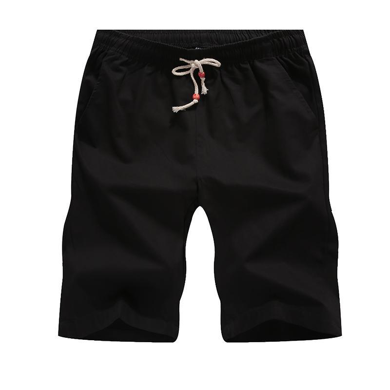 Pantalones cortos de algodón Hombres Casual Verano Tallas grandes Hombres Longitud de la rodilla corta Surfing Corto Ocio Pantalones cortos respirables de fitness 5XL 255