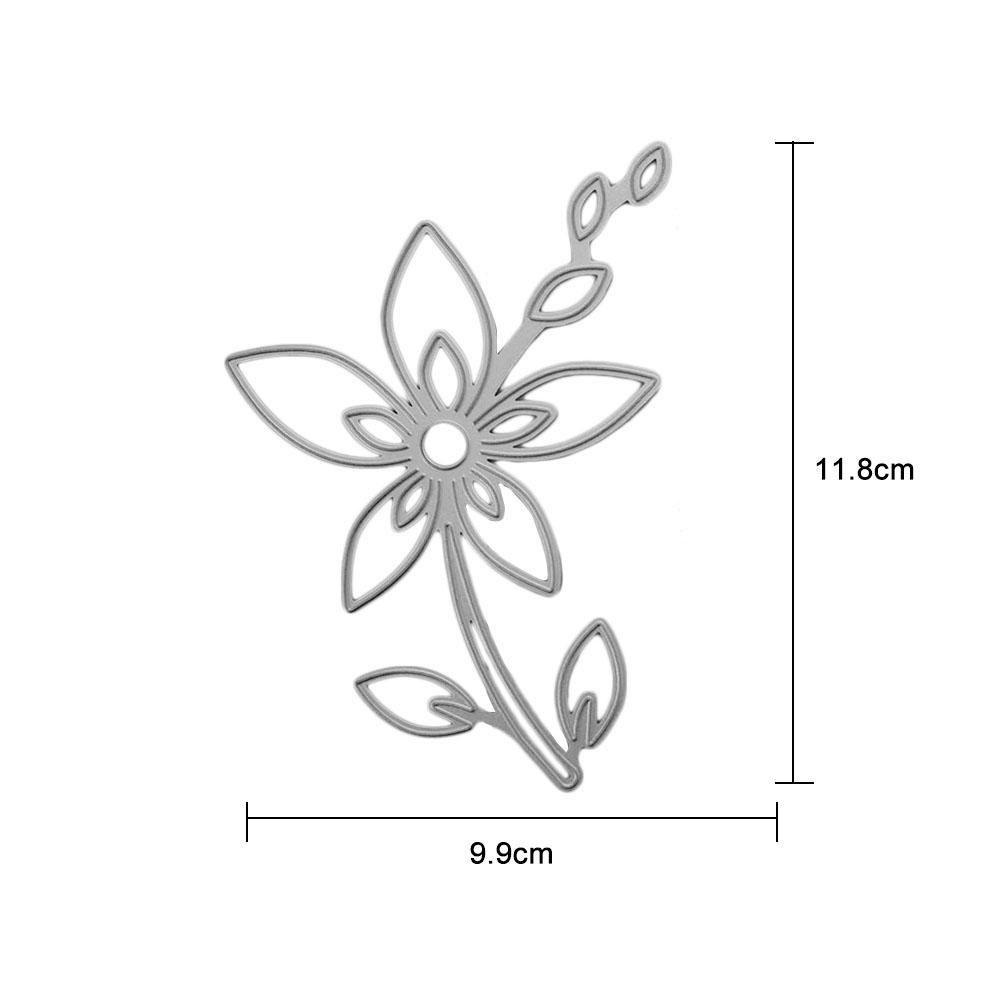 Toruiwa Matrices /à D/écoupe en Acier du Carbon Forme de Feuilles pour Scrapbook DIY Bricolage la Carte de Papier dAlbum 3pcs
