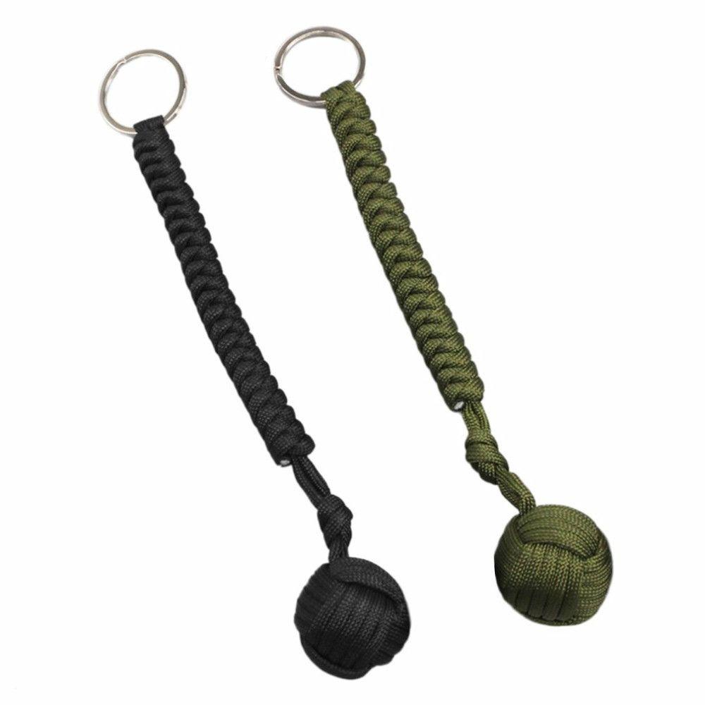 Открытый стальной шар безопасности подшипник самообороны веревку талреп выживания инструмент брелок многофункциональный брелок браслеты NY008