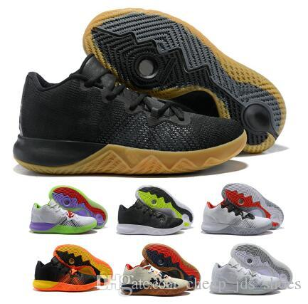 Last Irving Basketball Shoes Men Silver Zoom Core Live II Kay Yow EP 2018 Create Boston-themed Flytrap Low Athletic Sports Shoe Sneaker