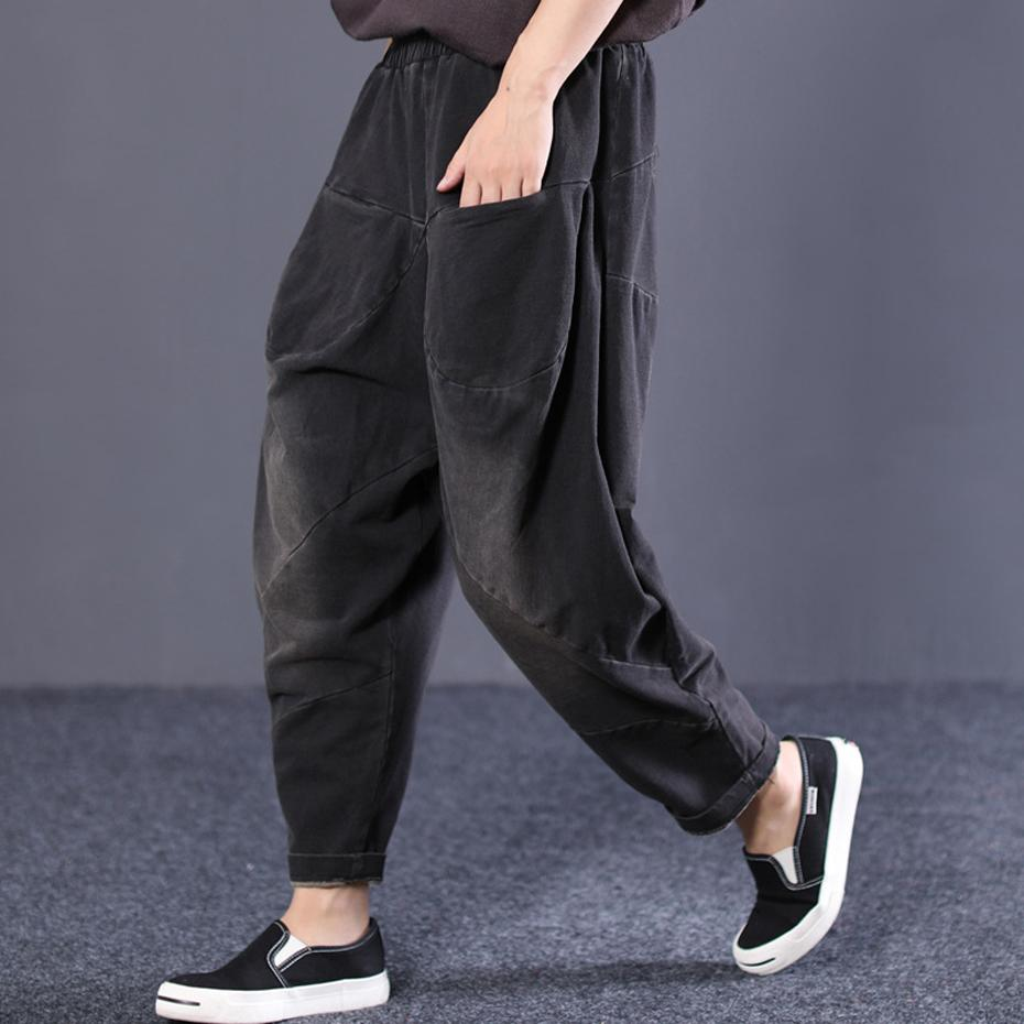Womens Denim Cross-pants Hip Hop Baggy Pants Bottoms Trousers for Ladies Thick Big Loose Oversized Casual Vintage Fashion 81414
