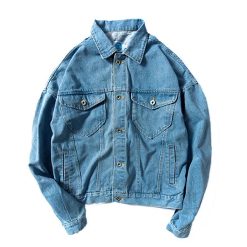 Winterjacke Mann-Mann-Jean-Jacken-Mantel Retro Jeans Pelz aus gewaschenem Denim Jacken für Männer Stehkragen Jean-Oberbekleidung