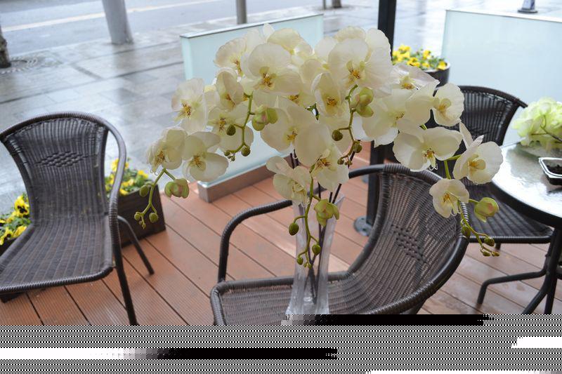 IN VENDITA Hi-Q 3 colori artificiali fiori di stoffa che balla orchidea per la spedizione di casa matrimonio festa decorazioni-FREE