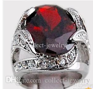 3.1ct Granat Diamant 14K Solid Gold Ring
